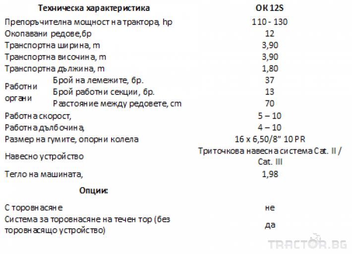 Култиватори OK12S, окопен култиватор MADARA 3 - Трактор БГ